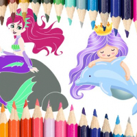 Mermaid Coloring Book